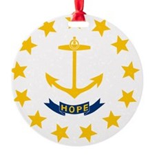 Rhode Island State Flag Ornament
