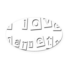 I Love Jarrett Oval Car Magnet