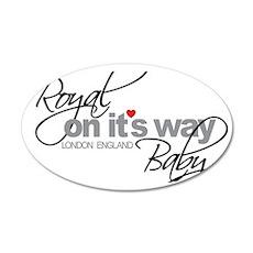 Royal Baby London England 20 35x21 Oval Wall Decal