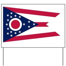 Ohio State Flag Yard Sign