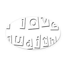 I Love Judith Oval Car Magnet