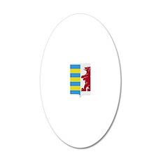 Rusyn Emblem large 20x12 Oval Wall Decal