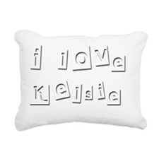 I Love Kelsie Rectangular Canvas Pillow