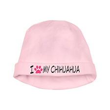 I Heart My Chihuahua Baby Hat