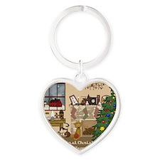 ornament Heart Keychain