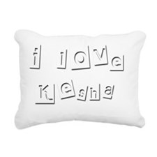I Love Kesha Rectangular Canvas Pillow