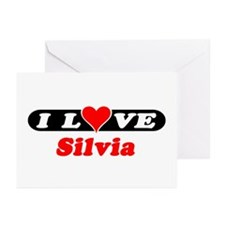 I Love Silvia Greeting Cards (Pk of 10)