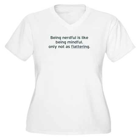 Being Nerdful Women's Plus Size V-Neck T-Shirt