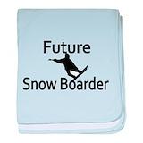 Snowboard baby blanket Cotton