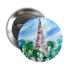 "Eiffel Tower 2.25"" Button"