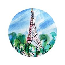 "Eiffel Tower 3.5"" Button"