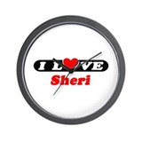 I Love Sheri Wall Clock