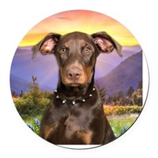 meadow Round Car Magnet