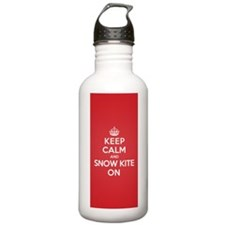 Keep Calm Snow Kite Water Bottle