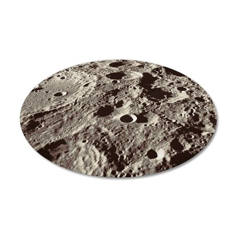 Lunar surface 35x21 Oval Wall Decal