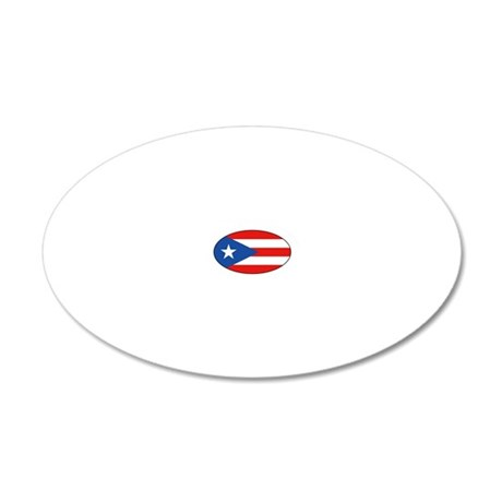 Puerto Rico - PR 20x12 Oval Wall Decal