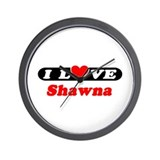 I Love Shawna Wall Clock