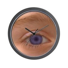 Pixellated eye Wall Clock