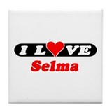 I Love Selma Tile Coaster