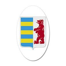 Rusyn Emblem (car flag) 20x12 Oval Wall Decal