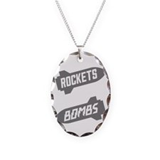 Black Rockets Not Bombs Shirt  Necklace