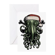 cthulhu-claus-T Greeting Card