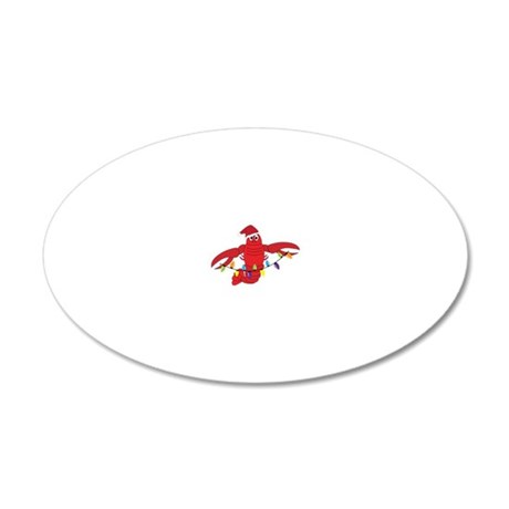 Sandy Claws 20x12 Oval Wall Decal
