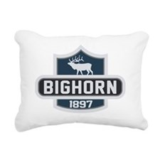 Bighorn Nature Badge Rectangular Canvas Pillow