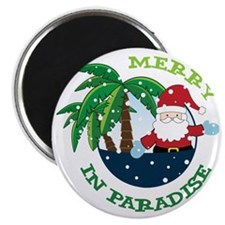 Merry In Paradise Magnet