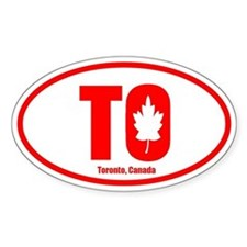 Toronto-Leaf Oval Bumper Stickers