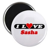 "I Love Sasha 2.25"" Magnet (10 pack)"