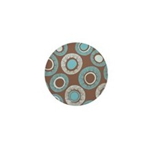 DotPattern_Brown_Large Mini Button