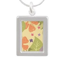 FlowerTropical_Yellow_La Silver Portrait Necklace