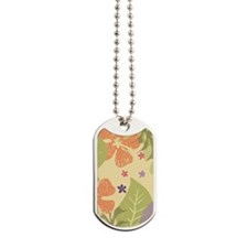 FlowerTropical_Yellow_Large Dog Tags