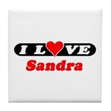 I Love Sandra Tile Coaster