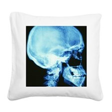Skull X-ray Square Canvas Pillow