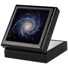 Spiral galaxy M74 Keepsake Box
