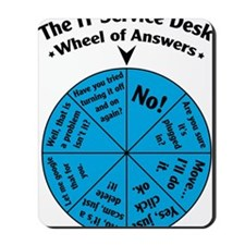 IT Wheel of Answers Mousepad