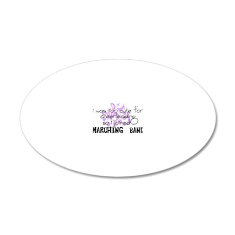 marching band cheerleading 20x12 Oval Wall Decal