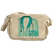 Stethoscope and lab coat Messenger Bag