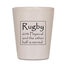 Rugby: 60% Physical Shot Glass