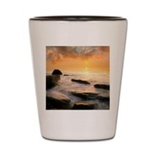Sunset over the sea Shot Glass