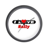 I Love Sally Wall Clock