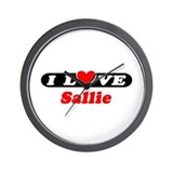I Love Sallie Wall Clock