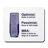 MBA Half Full Mousepad