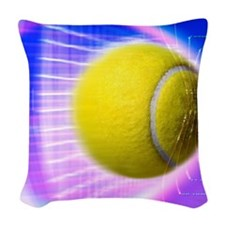 Tennis ball Woven Throw Pillow