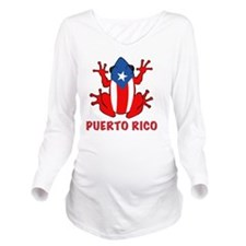 Puerto Rico - PR - C Long Sleeve Maternity T-Shirt