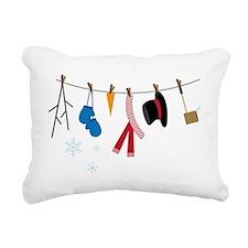 Snowman Clothing Rectangular Canvas Pillow