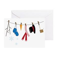 Snowman Clothing Greeting Card