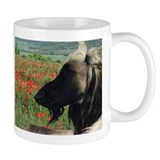 Afghan Hound in Red Poppies Small Mug